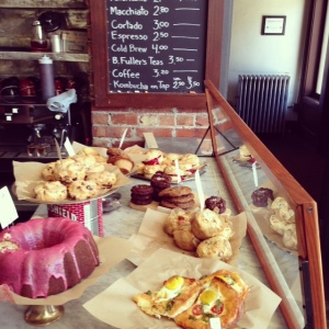 Pastry display at Oddfellow's Cafe leaves you salivating