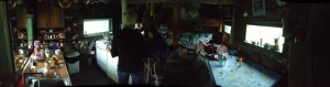 Distorted but still cool panoramic inside the original cabin