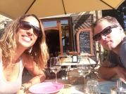 Pre-lunch wine in Volpaia