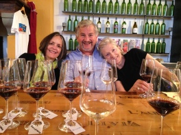 Wine tasting with Nancy, Wolfi and Mom