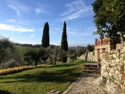 View from the villa Querceto