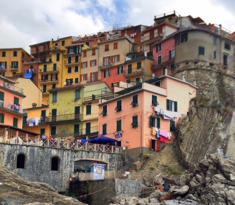 Manarola in Cinque Terre from the water