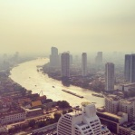 View of Bangkok from our apartment in the State Tower (where Hangover II was filmed)