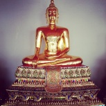 Golden sitting buddha