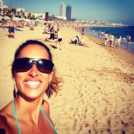 Soaking up the rays - beach day Barceloneta