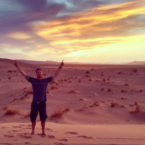Eric sunset Sahara
