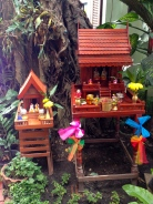 Thai Spirit House - a place to keep you your mischievous house spirit (think Dobby the house elf) appeased and out of trouble. Best placed in the corner of your garden.
