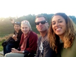 Gao, mom, E & me at Mon Cham for sunset