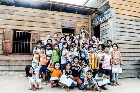 Volunteers at Angkor Tree School, Siem Reap, Cambodia