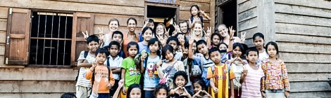 Volunteers at Angkor Tree School, Siem Reap, Cambodia