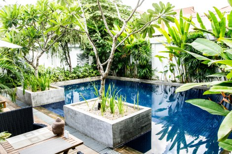 Landing Point Hotel pool, Siem Reap