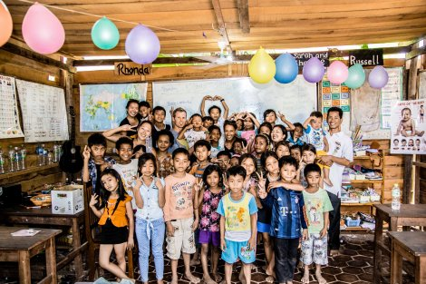 Our English class - Volunteering in Cambodia