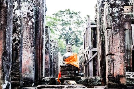 Buddha at Bayon Temple
