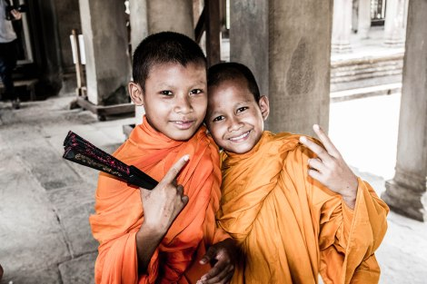 Mini monks at Angkor Wat