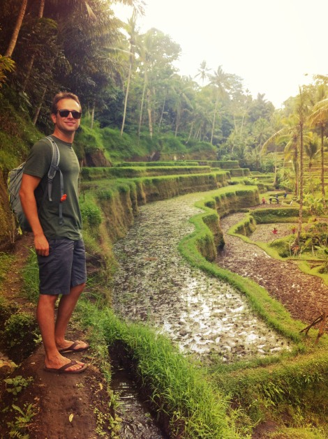 Our buddy Nick at the Tagalalang Rice Patty Fields